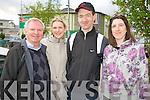 John and Michelle Fallon with Donal and Mary Reddington, Killorglin, enjoying the Hospice walk in Killorglin on Friday.