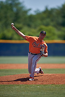 Baltimore Orioles pitcher Andrew Ciolli (79) during a Minor League Extended Spring Training game against the Tampa Bay Rays on April 17, 2019 at Charlotte County Sports Complex in Port Charlotte, Florida.  (Mike Janes/Four Seam Images)