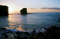 Puupehe Island (Sweetheart Rock) off the coast of Lanai