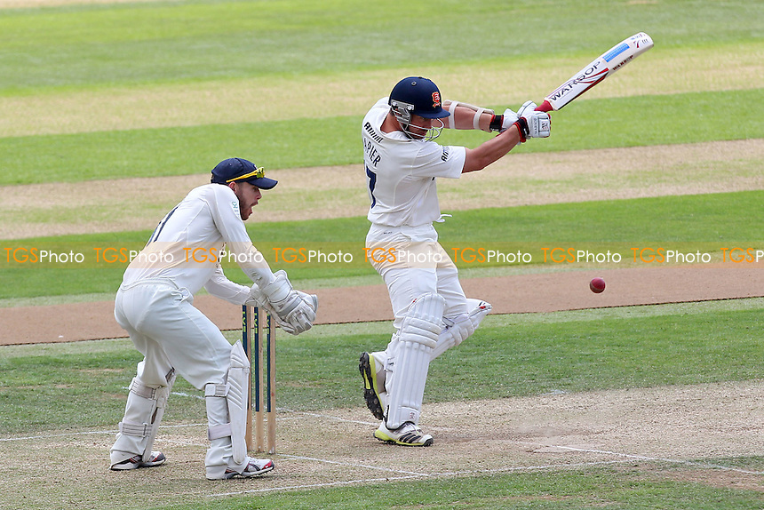 Graham Napier in batting action for Essex as Adam Rouse looks on - Essex CCC vs Gloucestershire CCC - LV County Championship Division Two Cricket at the Ford County Ground, Chelmsford - 01/07/14 - MANDATORY CREDIT: Gavin Ellis/TGSPHOTO - Self billing applies where appropriate - contact@tgsphoto.co.uk - NO UNPAID USE