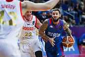 7th September 2017, Fenerbahce Arena, Istanbul, Turkey; FIBA Eurobasket Group D; Russia versus Great Britain; Shooting Guard Ben Mockford #3 of Great Britain drives to the basket during the match