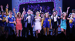 Kyle Selig, Kate Rockwell, Grey Henson, Taylor Louderman, Erika Henningsen, Barrett Wilbert Weed, Ashley Park, Kerry Butler, and cast during the Broadway Opening Night Performance Curtain Call of 'Mean Girls' at the August Wilson Theatre on April 8, 2018 in New York City.