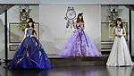 "Japanese model Nicole Fujita(C) and models pose during the ""b.b.duo"" second collection of MARIAROSA at the Daikanyama Homeikan in Tokyo, Japan on October 16, 2018. Japanese model Nicole Fujita designed and edited collaboration with ""b.b.duo"" of MARIAROSA."