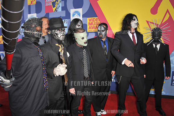 Slipknot at the 2008 MTV Video Music Awards at Paramount Studios, Hollywood. .September 7, 2008  Los Angeles, CA..Picture: Paul Smith / Featureflash
