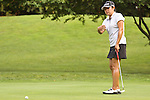 Jennie Lee reacts after missing her putt on the 12th hole at Alliance Bank Golf Classic in Syracuse NY.
