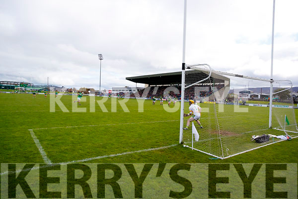 Padraig Boyle Ballyduff scores a goal from a penalty against  Lixnaw in the Senior County Hurling Final in Austin Stack Park on Sunday