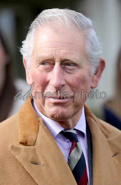 21 March 2017 - Preston, UK - Prince Charles Patron of The Specialist Cheesemakers Association chats to Nick and Richard Kenyon during his visit to Dewlay Cheesemakers in Preston, England.  Dewlay Cheesemakers was founded in 1957 by George Kenyon and is now owned by his grandson's Nick and Richard Kenyon. Photo Credit: Alpha Press/AdMedia