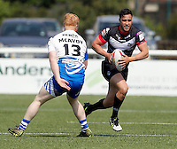 Api Pewhairangi in action for London during the Kingstone Press Championship game between London Broncos and Workington at Ealing Trailfinders, Ealing, on Sun June 5, 2016
