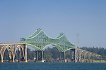 The Conde D. McCullough Memorial Bridge in Coos Bay on the Oregon Coast..#06061248