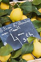 Europe/France/Provence-Alpes-Côte d'Azur/06/Alpes-Maritimes/Nice: Citrons de Menton  sur le marché du Cours Saleya