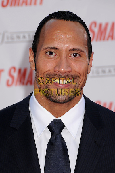 "DWAYNE ""THE ROCK"" JOHNSON.""Get Smart"" Los Angeles Premiere at Mann's Village Theatre, Westwood, California, USA..June 16th, 2008.headshot portrait stubble facial hair .CAP/ADM/BP.©Byron Purvis/AdMedia/Capital Pictures."