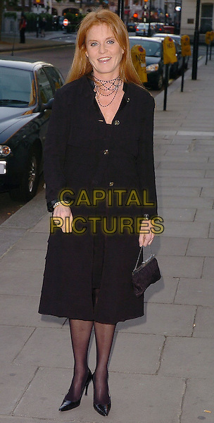SARAH FERGUSON DUCHESS OF YORK.Salvatore Ferragamo Fashion Show & Dinner, London, June 8th 2005..full length fergie black dress.Ref: CAN.www.capitalpictures.com.sales@capitalpictures.com.©Can Nguyen/Capital Pictures