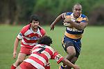 P. Saukuru has the attention of T. Nathan & S. Fakauno. Counties Manukau Rugby Union Premier round 7  game between Patumahoe & Karaka played at Patumahoe on May 26th 2007. Karaka led 5 - 3 at halftime and went on to win 12 - 3.