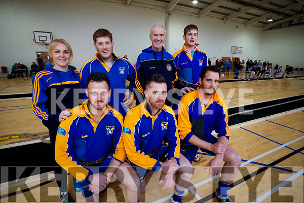 St Pats team, pictured at the 640kg Tug of War National Indoor Championship, held at John Mitchels Sports Complex, Tralee, on Sunday last were front l-r: Sean Conway, Hughie Conway and Gary Conway. Back l-r: Yvonne McEntee, PJ Griffin, Hugh Conway, Michael Owen McGeehan.