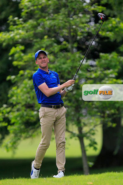 Chase Davis (Marriot Sprowston Manor Hotel) on the 2nd tee during Round 2 of the Titleist &amp; Footjoy PGA Professional Championship at Luttrellstown Castle Golf &amp; Country Club on Wednesday 14th June 2017.<br /> Photo: Golffile / Thos Caffrey.<br /> <br /> All photo usage must carry mandatory copyright credit     (&copy; Golffile | Thos Caffrey)