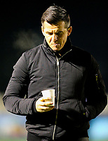 Fleetwood Town manager Joey Barton oversees the warm up<br /> <br /> Photographer Alex Dodd/CameraSport<br /> <br /> The Emirates FA Cup Second Round - Guiseley v Fleetwood Town - Monday 3rd December 2018 - Nethermoor Park - Guiseley<br />  <br /> World Copyright © 2018 CameraSport. All rights reserved. 43 Linden Ave. Countesthorpe. Leicester. England. LE8 5PG - Tel: +44 (0) 116 277 4147 - admin@camerasport.com - www.camerasport.com