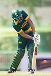 Farhaan Sayanvala of South Africa hits a shot during Day 2 of Hong Kong Cricket World Sixes 2017  match between South Africa vs Sri Lanka at Kowloon Cricket Club on 29 October 2017, in Hong Kong, China. Photo by Yu Chun Christopher Wong / Power Sport Images