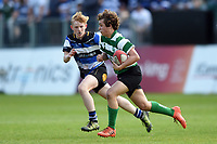 Action from the Bath Rugby 7s Club Championship at half-time. Aviva Premiership match, between Bath Rugby and London Irish on May 5, 2018 at the Recreation Ground in Bath, England. Photo by: Patrick Khachfe / Onside Images