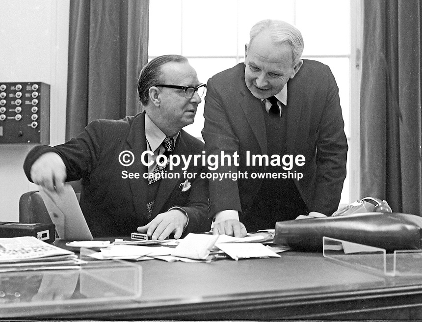 Gerry Fitt Deputy Chief Executive N Ireland Executive At His Desk