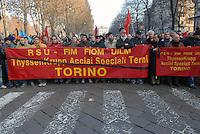 - demonstration for safety at work after the death of seven workers in a fire inside the steel factory Thyssen in Turin..- manifestazione per la sicurezza sul lavoro dopo la morte di sette operai in un incendio all'interno delle acciaierie Thyssen di Torino