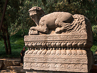 Fabeltier Xiezhi im Sommerpalast, Yi He Yuan, in Peking, China, Asien, UNESCO-Weltkulturerbe<br /> mythical creature Xiezhi in the summerpalace, Yi He Yuan,Beijing, China, Asia, world heritage