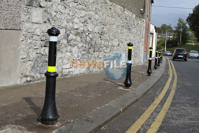 Bollards on Mary street that were knocked down by a motorist over the weekend. The were replaced at lunchtime today...(Photo credit should read Jenny Matthews www.newsfile.ie)....This Picture has been sent you under the conditions enclosed by:.Newsfile Ltd..The Studio,.Millmount Abbey,.Drogheda,.Co Meath..Ireland..Tel: +353(0)41-9871240.Fax: +353(0)41-9871260.GSM: +353(0)86-2500958.email: pictures@newsfile.ie.www.newsfile.ie.