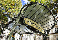 "Subway station "" Abbesses "" with shelter of roof, 1900, Paris 18th, France, built by architect Hector Guimard (Lyon, 1867 - New York, 1942) Picture by Manuel Cohen"