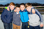 Enjoying th Lispole GAA night at the Dogs at the Kingdom Greyhound Stadium on Friday were Darragh Murphy, Donnacha Brosnan, Vinncent O'Sullivan, Marc Manning from Lispole