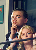 Boston, MA - July 29, 2004 -- Leonardo DiCaprio watches the proceedings at the 2004 Democratic National Convention in Boston, Massachusetts on July 29, 2004 from a VIP sky suite..Credit: Ron Sachs / CNP