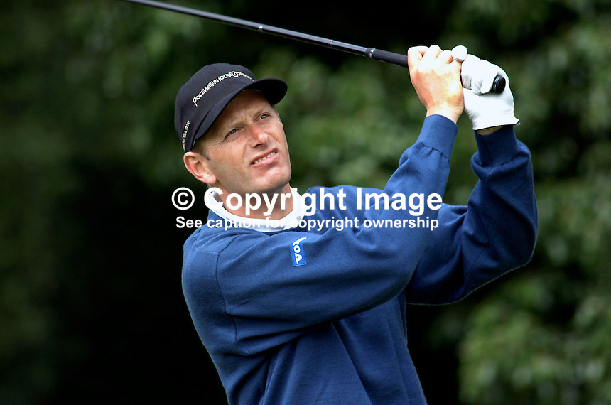 Steen Tinning, professional golfer, Denmark. Picture taken during practice for the Smurfit European Golf Champsionship at the K Club, Co Kildare, Rep of Ireland. Ref: 2001062469...Copyright Image from Victor Patterson, 54 Dorchester Park, Belfast, UK, BT9 6RJ..Tel: +44 28 9066 1296.Mob: +44 7802 353836.Voicemail +44 20 8816 7153.Skype: victorpattersonbelfast.Email: victorpatterson@mac.com.Email: victorpatterson@ireland.com (back-up)..IMPORTANT: If you wish to use this image or any other of my images please go to www.victorpatterson.com and click on the Terms & Conditions. Then contact me by email or phone with the reference number(s) of the image(s) concerned.