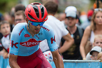 Ruben Guerreiro (POR) Team Katusha  Alpecin on the Mur de Huy during the 2019 La Fl&egrave;che Wallonne running 195km from Ans to Mur de Huy, Belgium. 24th April 2019. Picture: Pim Nijland | Peloton Photos/Cyclefile<br /> <br /> All photos usage must carry mandatory copyright credit (Peloton Photos/Cyclefile | Pim Nijland)