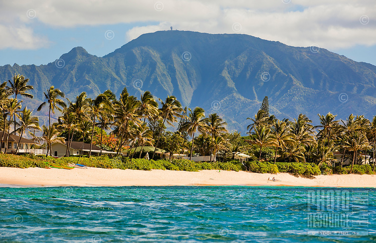 View of Mt. Kaala and a Waialua beach