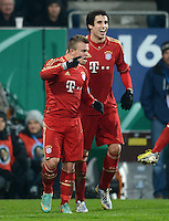 FUSSBALL  DFB-POKAL  ACHTELFINALE  SAISON 2012/2013    FC Augsburg - FC Bayern Muenchen        18.12.2012 Xherdan Shaqiri, und Javi , Javier Martinez (v.li., FC Bayern Muenchen)