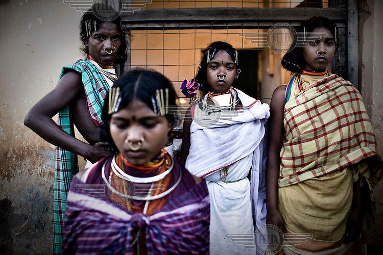 Young girls from the Dongria Kondh tribe during their annual festival in Lanjigarh.