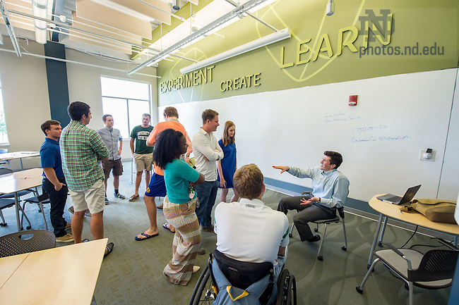 Jul. 17, 2015; ESTEEM program networking event at Innovation Park. (Photo by Matt Cashore/University of Notre Dame)