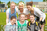 125 OF GAA: Taking part in the football 7 A-side as part of Listowl Emmet's celebration of 125 of GAA on Sunday front l-r: Danielle O'Connor, Heather O'Rourke and Jennifer Ryan. Back l-r: Breada Lane, Leah Dore and Aoife Hannon.
