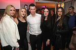 27.12.2014., Split - Opening of the new Lounge bar Charlie on the Split beach Znjan. The Lounge bar was opened by Ivan Perisic, player of VfL Wolfsburg and Dora Vukusic (left from Ivan Perisic), Miss Globe Croatia and Miss Tourism Queen World 2014. Photo: Zeljko Sunjic/HaloPix/Pixsell