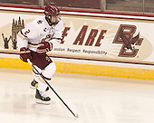 Scott Savage (BC - 2) - The Boston College Eagles defeated the visiting University of New Brunswick Varsity Reds 6-4 in an exhibition game on Saturday, October 4, 2014, at Kelley Rink in Conte Forum in Chestnut Hill, Massachusetts.