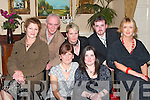 SOCIAL: Pictured at the Listowel Community Hospital Social in The Arms Hotel on Saturday night were front l-r: Eleanor Curran, Mary McElligott, Mary Ann McElligott and Josephine Lynch. Back l-r: Kenneth O'Gorman, Mary Toomey and PJ Shannon.   Copyright Kerry's Eye 2008