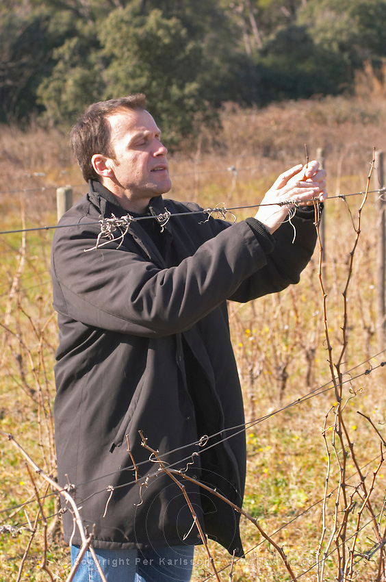 Alain Chabanon Domaine Alain Chabanon, previously Font Caude, in the Lagamas village. Montpeyroux. Languedoc. Owner winemaker. France. Europe.