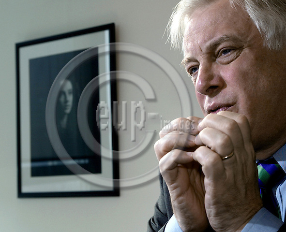 BRUSSELS - BELGIUM - 04 March 2002-- Christopher PATTEN, EU- Commissioner for External Relations.-- PHOTO: JUHA ROININEN / EUP-IMAGES