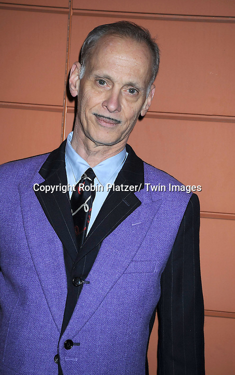 """John Waters attending The Opening Night of """"The Pee-Wee Herman Show"""" on Broadway .on November 11, 2010 at The Stephen Sondheim Theatre in New York City."""