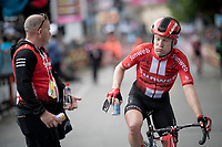 Jan Bakelants (BEL/Sunweb) crosses the finish line after a hard day at the office<br /> <br /> Stage 4: Orbetello to Frascati (228km)<br /> 102nd Giro d'Italia 2019<br /> <br /> ©kramon