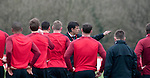 Cardiff - UK - 19th March 2013 : Manager Chris Coleman taking a  Wales football squad training session at the Vale Hotel and Resort pitch ahead of their international with Scotland at the weekend.