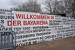 17.03.2019, BayArena, Leverkusen, GER, 1. FBL, Bayer 04 Leverkusen vs. SV Werder Bremen,<br />  <br /> DFL regulations prohibit any use of photographs as image sequences and/or quasi-video<br /> <br /> im Bild / picture shows: <br /> Absperrwaende zu den Gaestefans<br /> <br /> Foto © nordphoto / Meuter