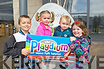 Children pictured at the launch of Playdium, which opens on Friday 26th of April were from left:  Dillon Murphy, Roisin Kerins, Sean Drummey and Ciara Drummey.