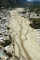 An arial view of the Mazapa river after sever flooding caused by huricane Stan.  Motozintla, Chiapas