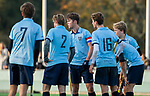BLOEMENDAAL  - Teambespreking , huddle  , competitiewedstrijd junioren  landelijk  Bloemendaal JA1-Nijmegen JA1 (2-2) . COPYRIGHT KOEN SUYK