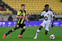 Wellington Phoenix&rsquo; Louis Fenton in action during the A-League - Wellington Phoenix v Western Sydney Wanderers at Westpac Stadium, Wellington, New Zealand on Saturday 3 November  2018. <br /> Photo by Masanori Udagawa. <br /> www.photowellington.photoshelter.com