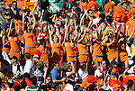 14 JUN 2010:  Female Dutch fans in the stands.  The Netherlands National Team defeated the Denmark National Team 2-0 at Soccer City Stadium in Johannesburg, South Africa in a 2010 FIFA World Cup Group E match.